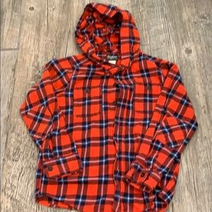 Boys Hooded flannel